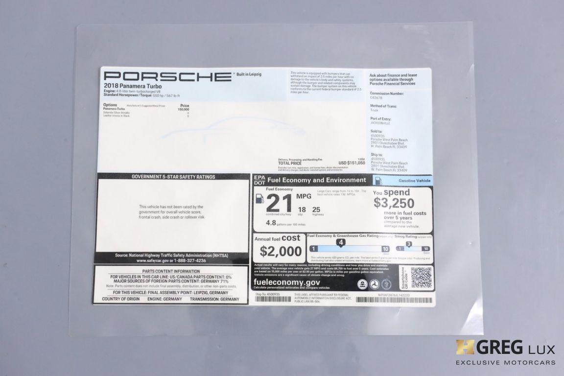 2018 Porsche Panamera Turbo #65