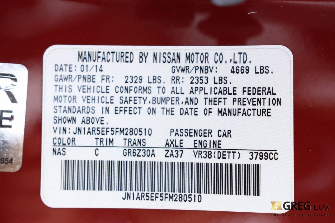 2015 Nissan GT R Premium #62