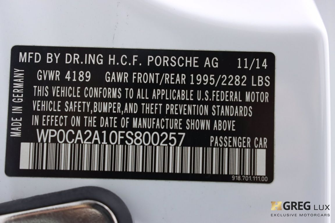 2015 Porsche 918 Spyder  #67