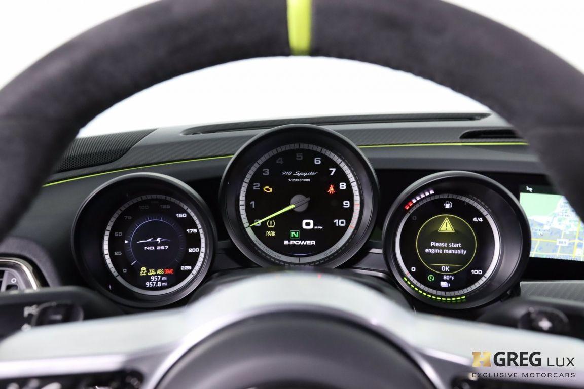 2015 Porsche 918 Spyder  #62