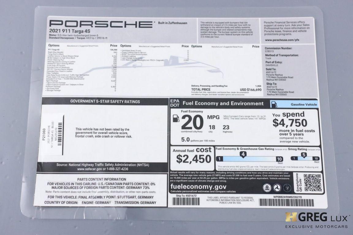 2021 Porsche 911 Targa 4S #42