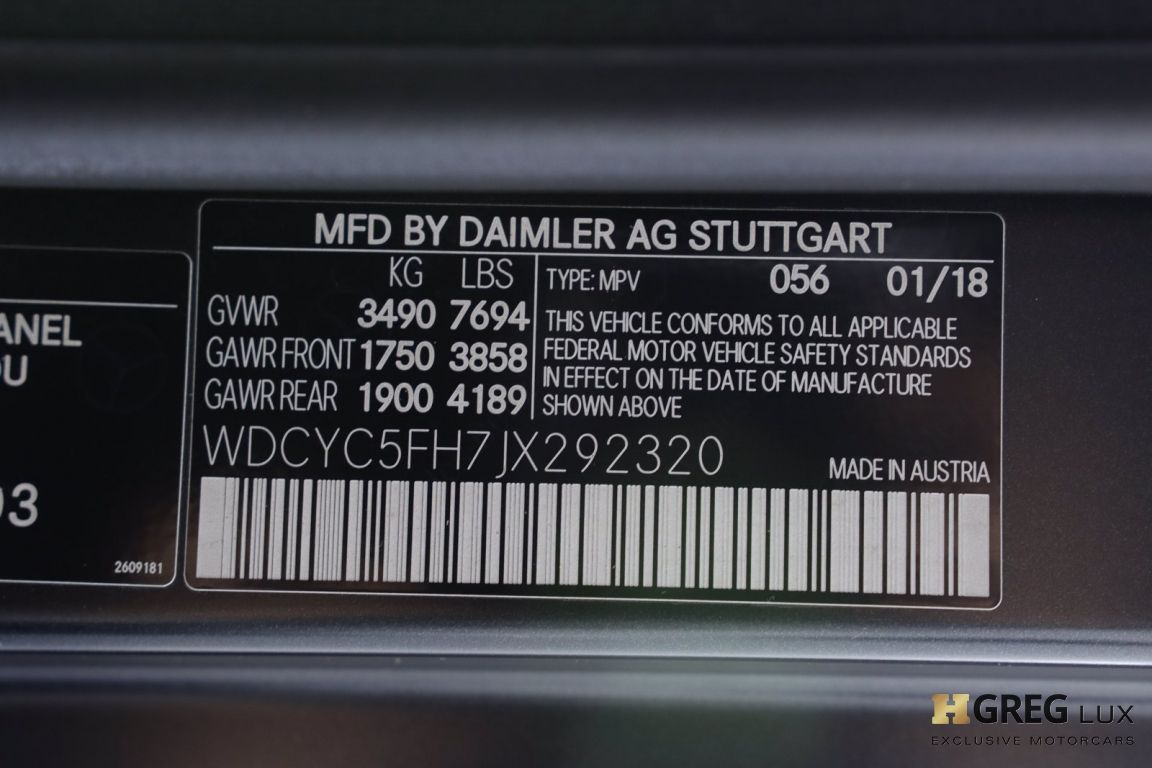 2018 Mercedes Benz G Class G 550 4x4 Squared #70