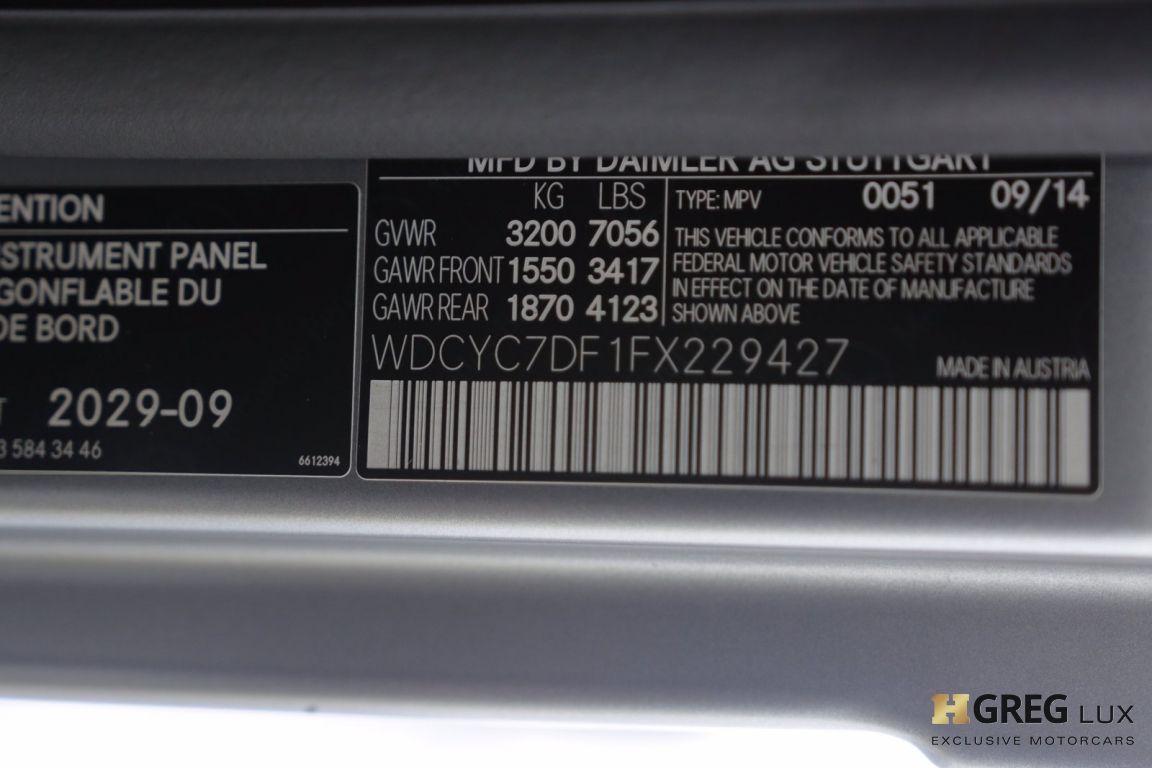 2015 Mercedes Benz G Class G 63 AMG #53