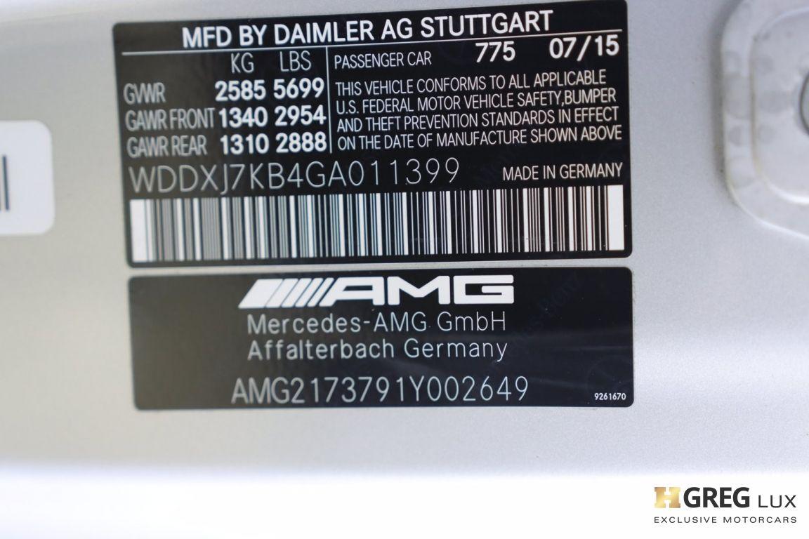 2016 Mercedes Benz S Class AMG S 65 #58