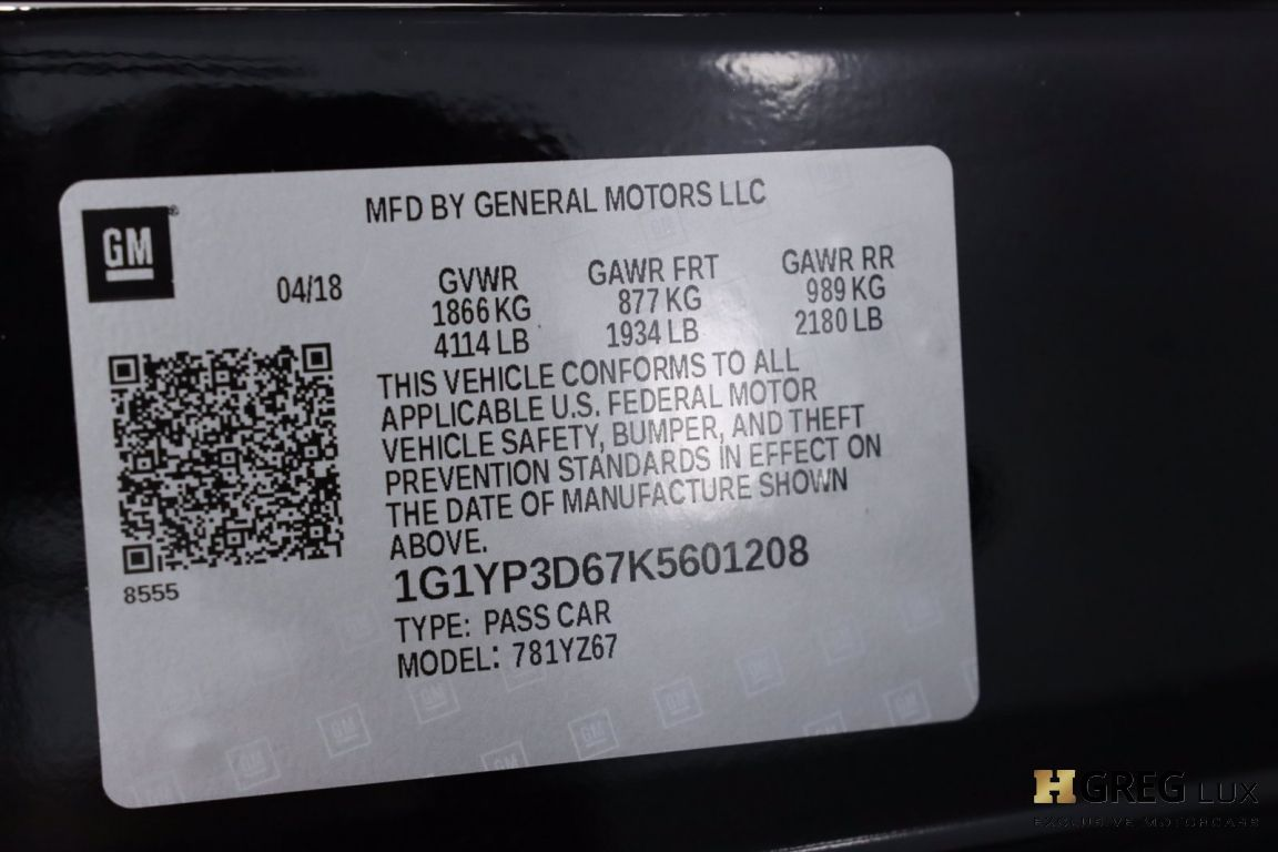 2019 Chevrolet Corvette Z06 1LZ #52