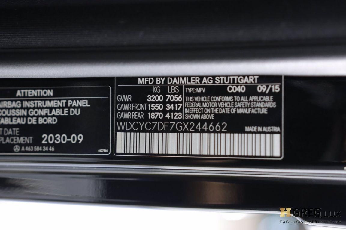 2016 Mercedes Benz G Class AMG G 63 #52