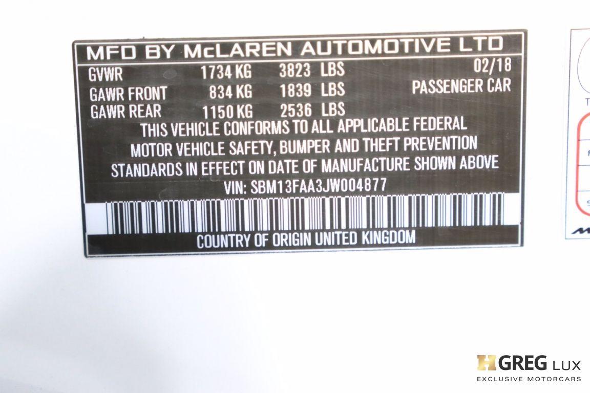2018 McLaren 570S  #52