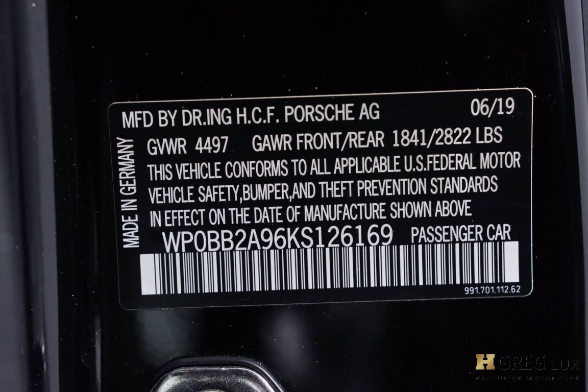 2019 Porsche 911 Targa 4 GTS #59