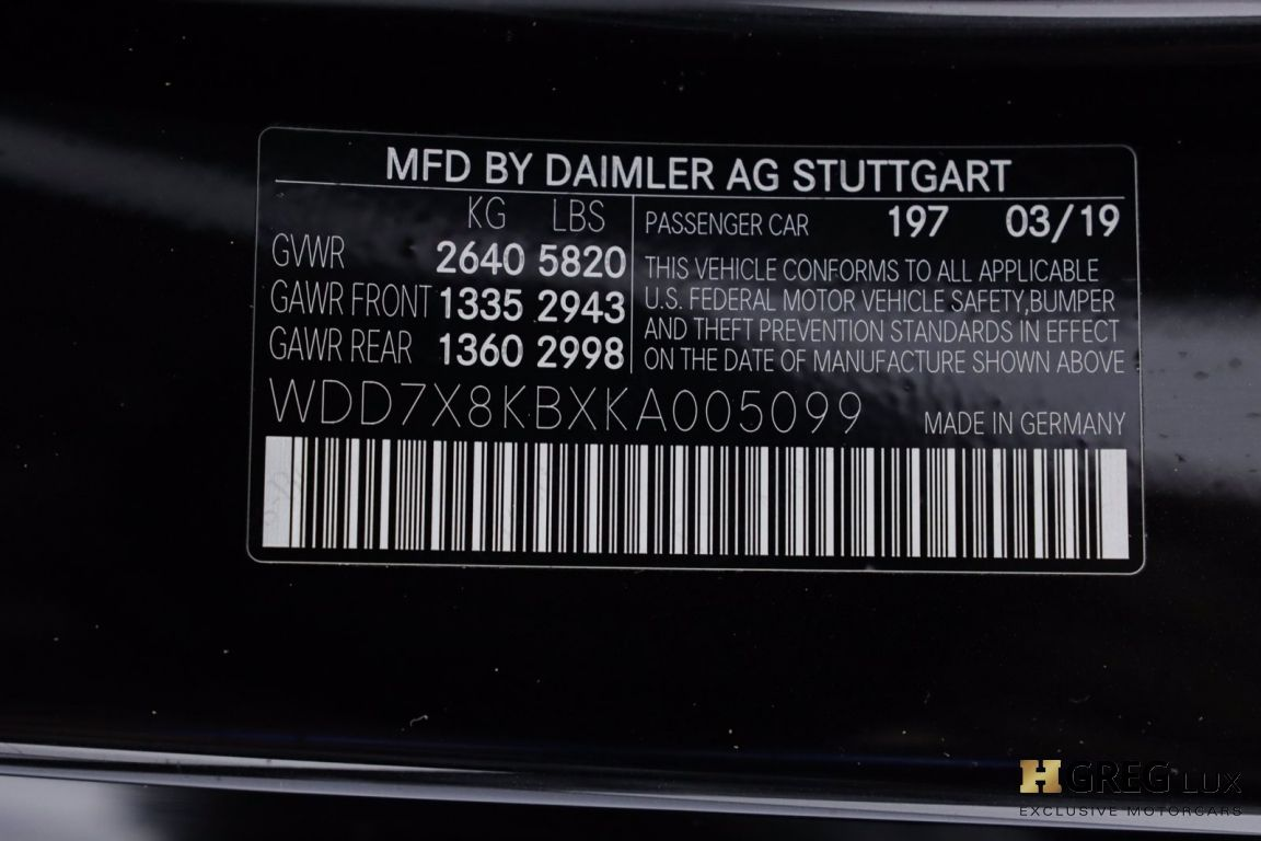 2019 Mercedes Benz AMG GT AMG GT 63 S #67
