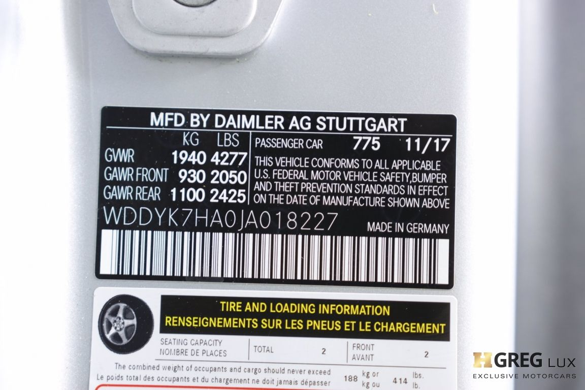 2018 Mercedes Benz AMG GT AMG GT #49