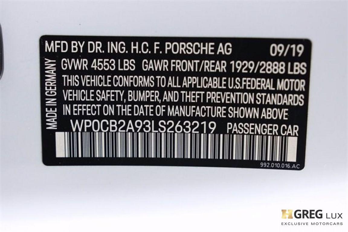 2020 Porsche 911 Carrera 4S #69