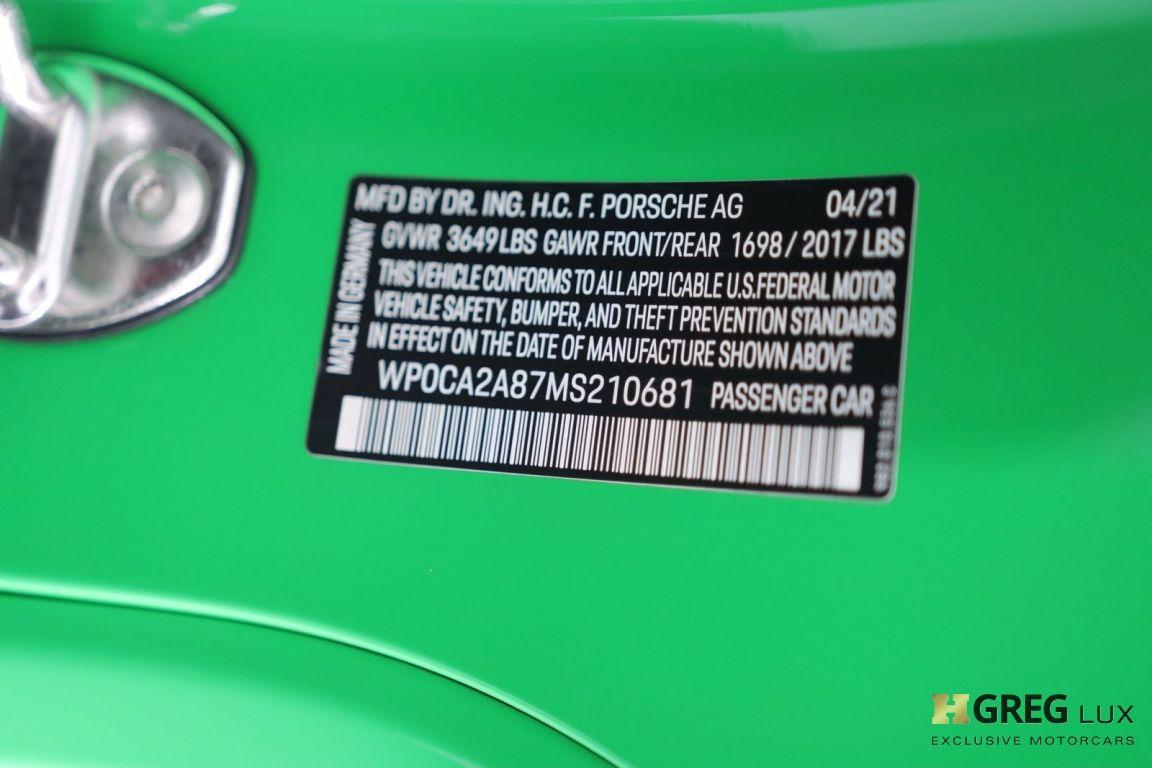 2021 Porsche 718 Boxster T #44
